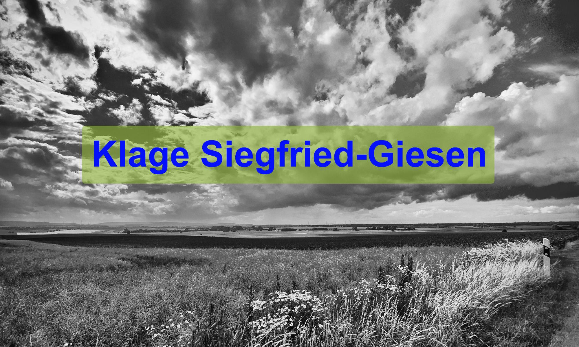 Klage Siegfried-Giesen